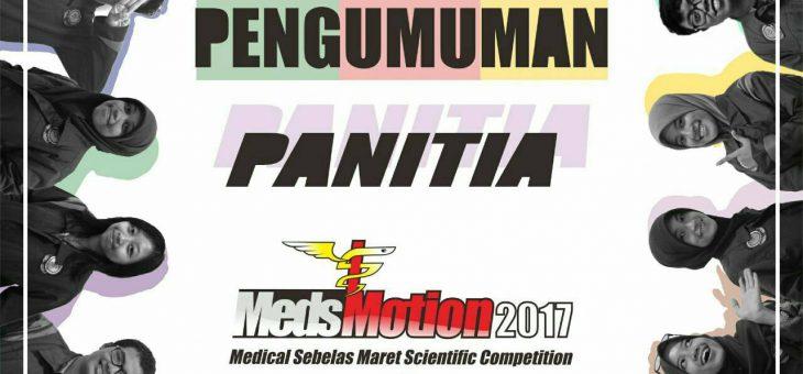 PENGUMUMAN PANITIA MEDSMOTION 2017!