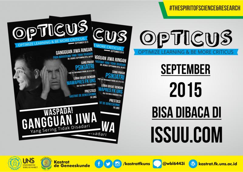 TELAH TERBIT OPTICUS edisi September 2015