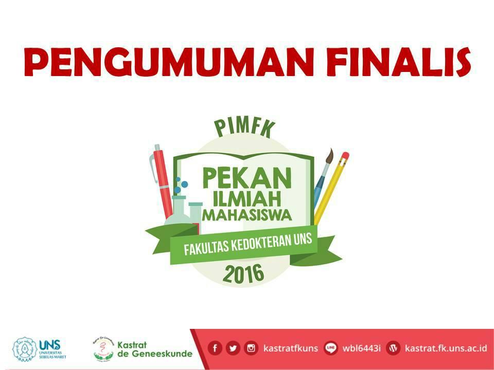 Pengumuman Finalis PIMFK 2016